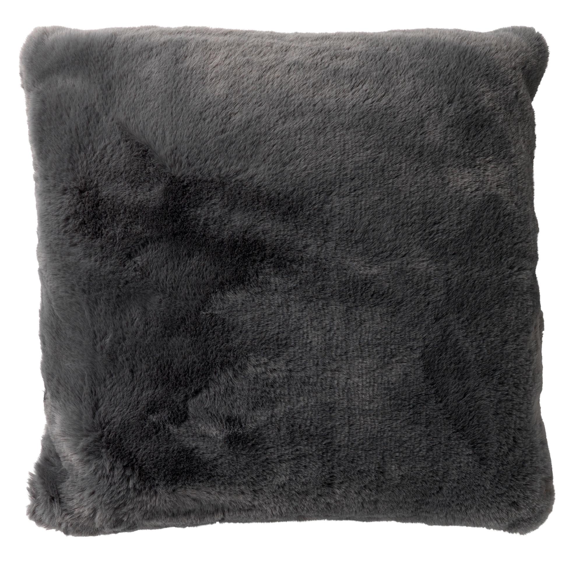 ZAYA - Sierkussen unikleur Charcoal Grey 45x45 cm