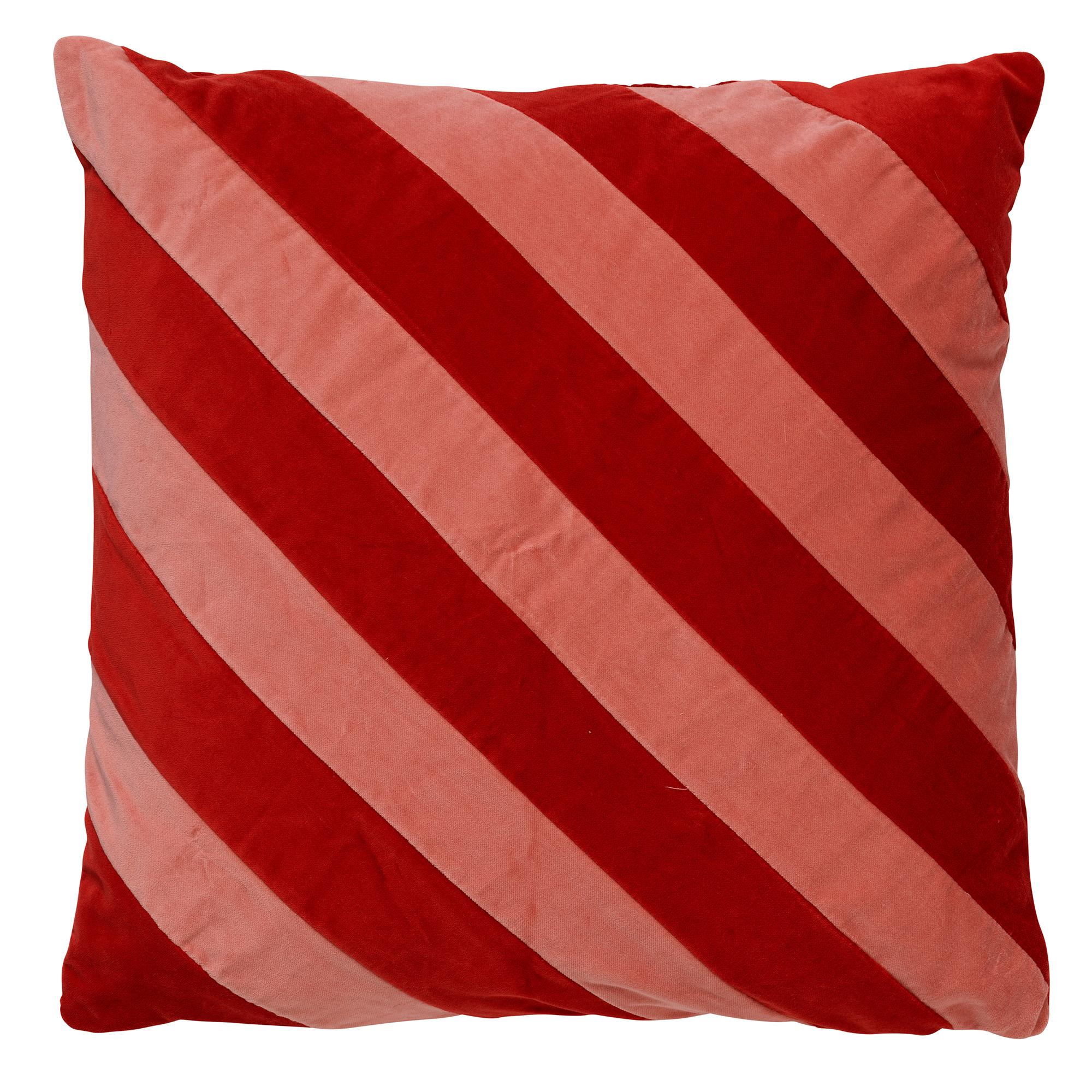 PEBBE - Sierkussen velvet Aurora Red 45x45 cm