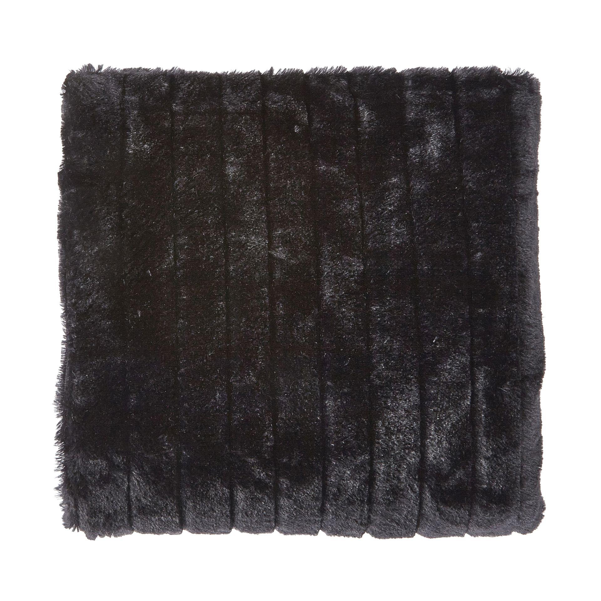 YORICK - Plaid zwart 130x180 cm