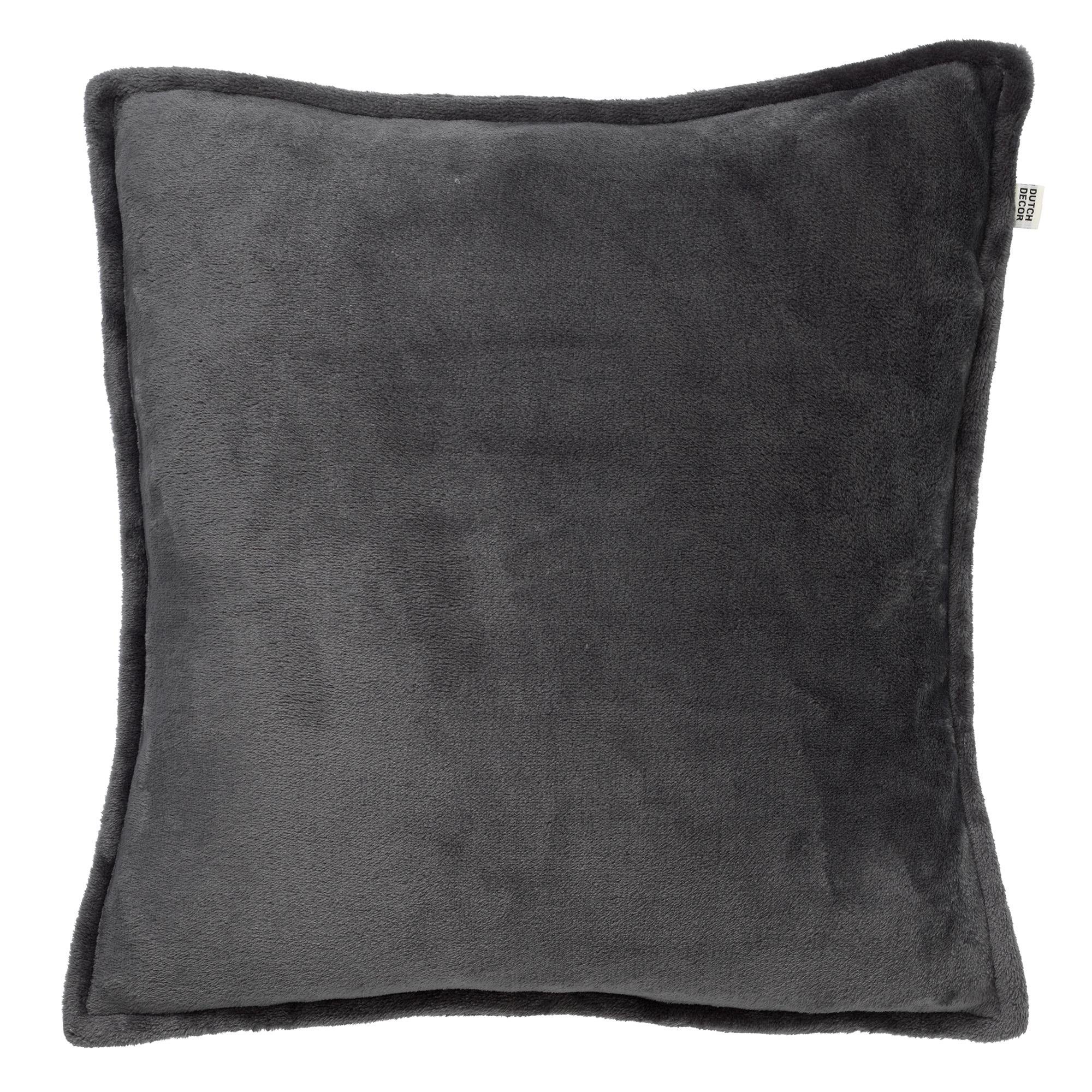 CILLY - Sierkussen van fleece Charcoal Gray 45x45 cm