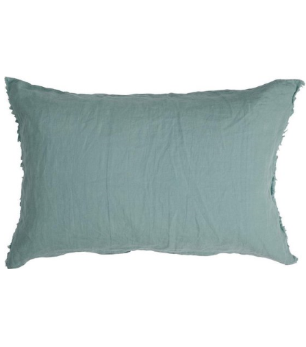 CASUAL LINEN - Walra Sierkussen van linnen groen 40x60 cm