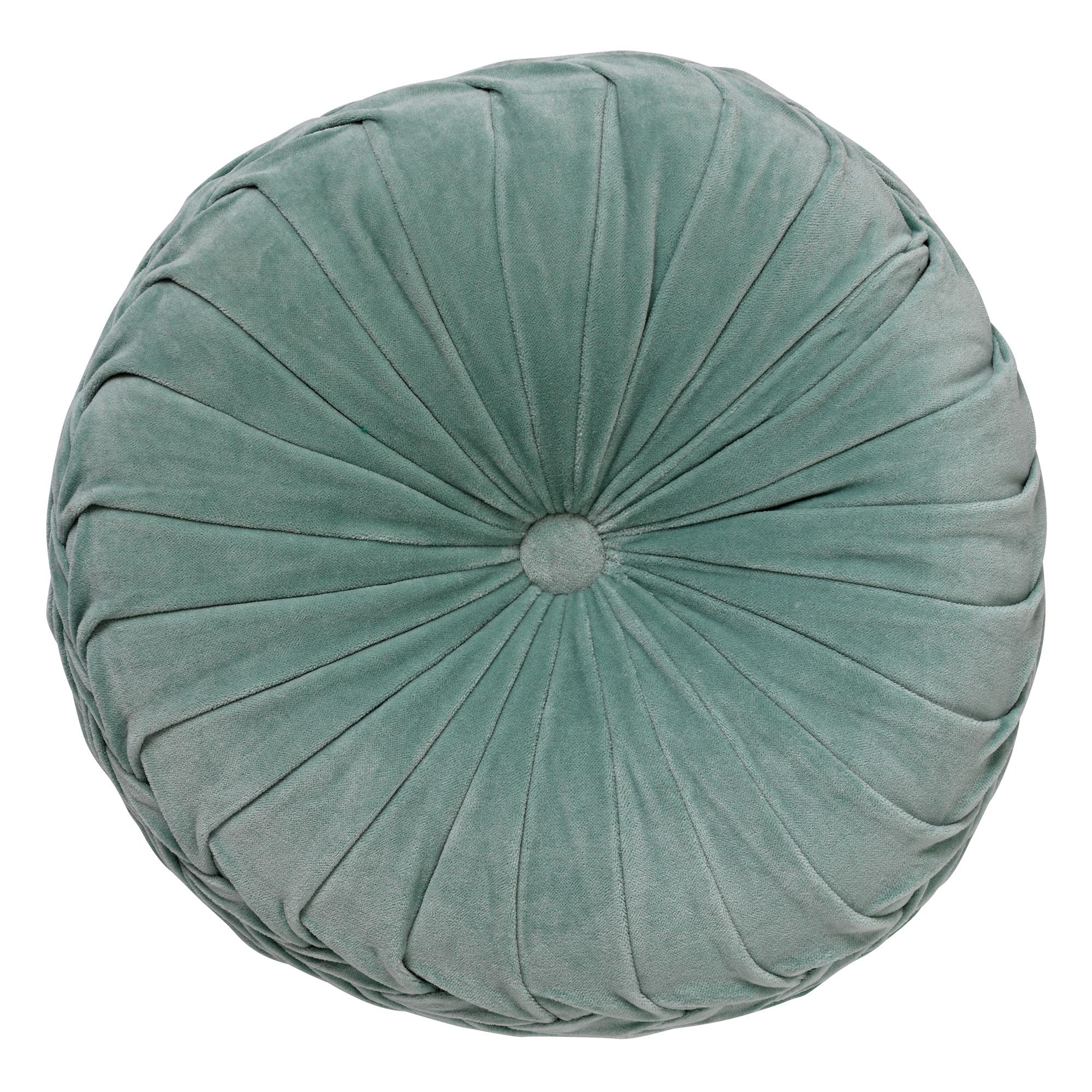 KAJA - Sierkussen rond velvet Jadeite 40 cm