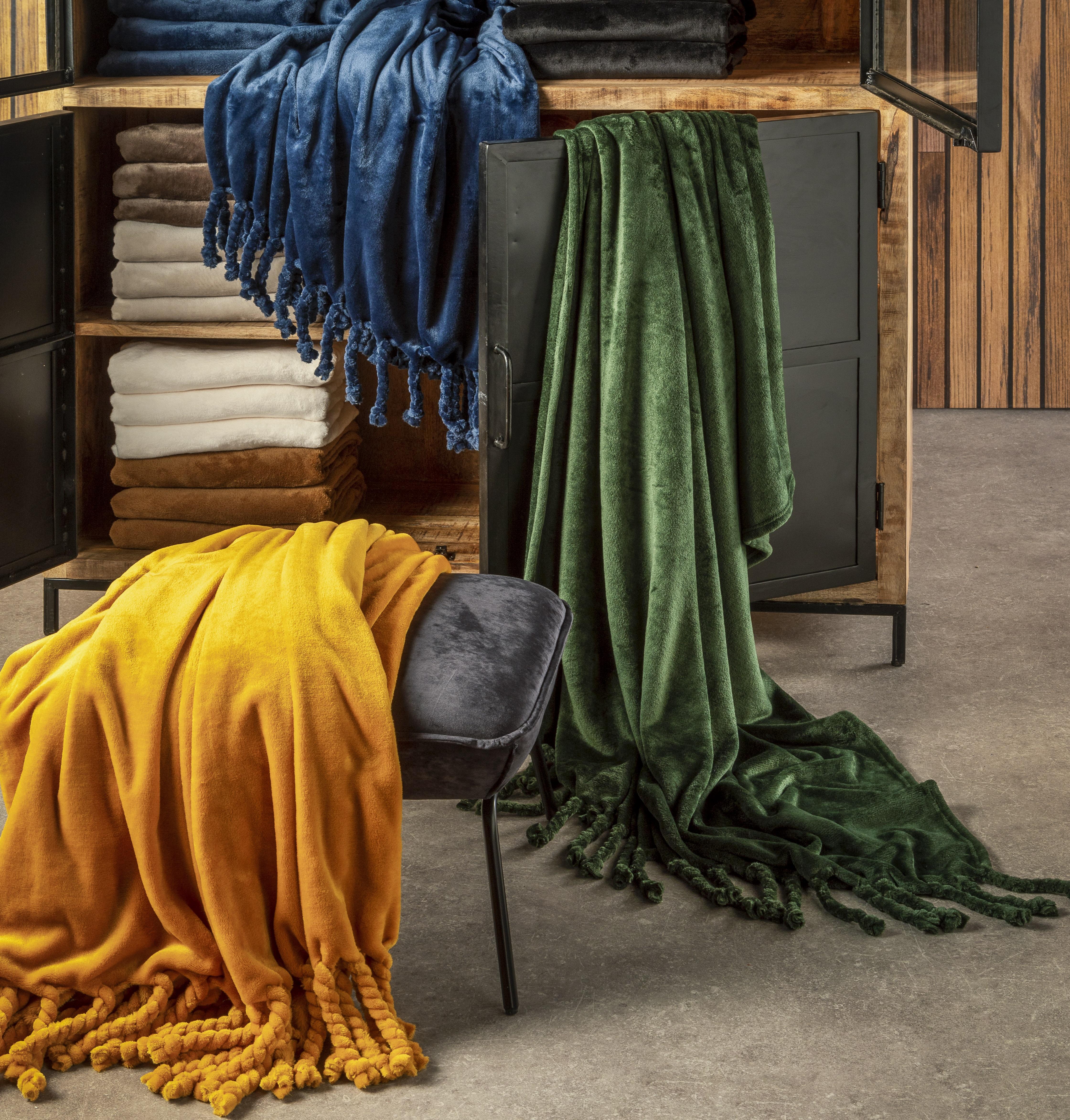 FLORIJN - Plaid van fleece 150x200 cm Mountain View