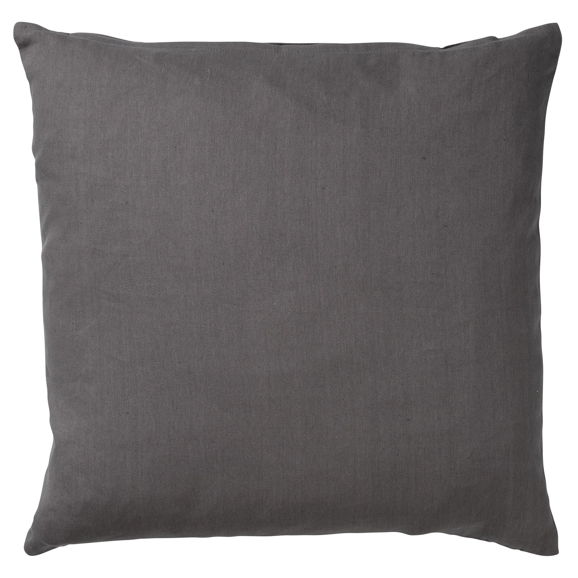 JAMES - Sierkussen van katoen Charcoal Grey 45x45 cm