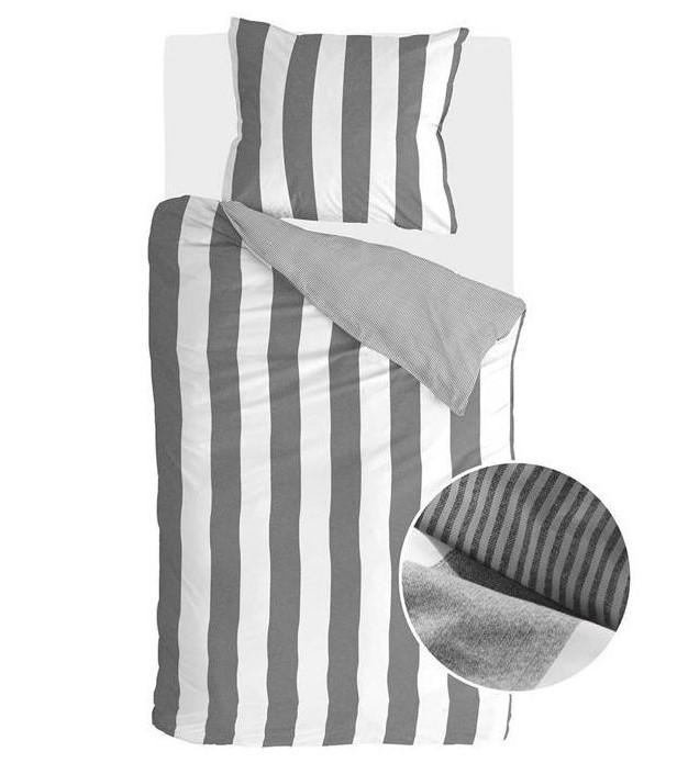 Dekbedovertrek Walra Everline Antraciet 140x220 cm 1-persoons dekbedovertrek