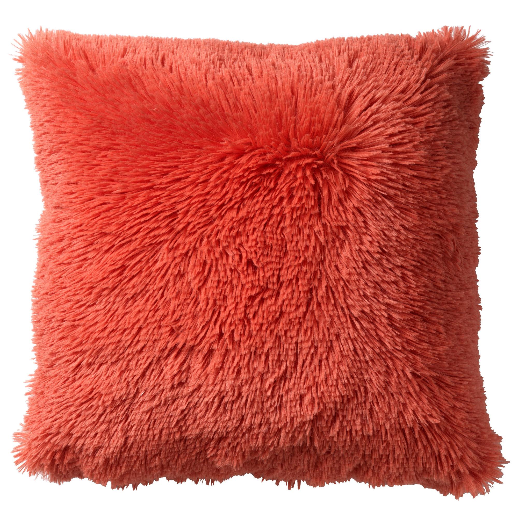 FLUFFY - Sierkussen unikleur Coral 45x45 cm