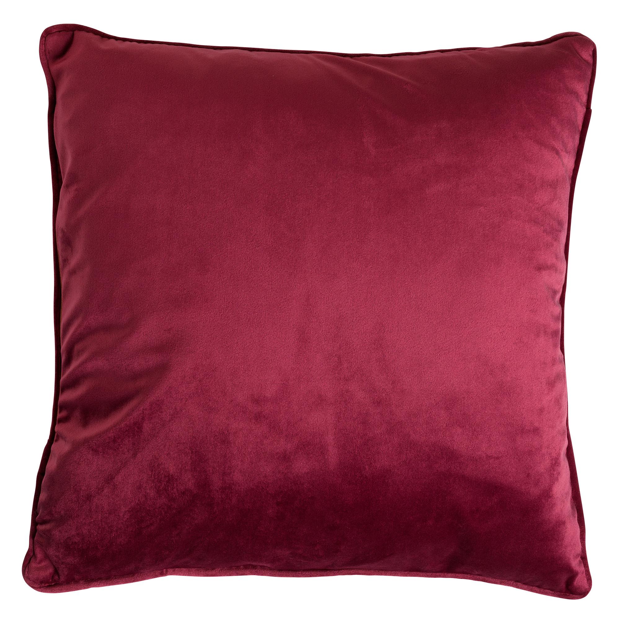 FINN - Sierkussen velvet Red Plum 45x45 cm