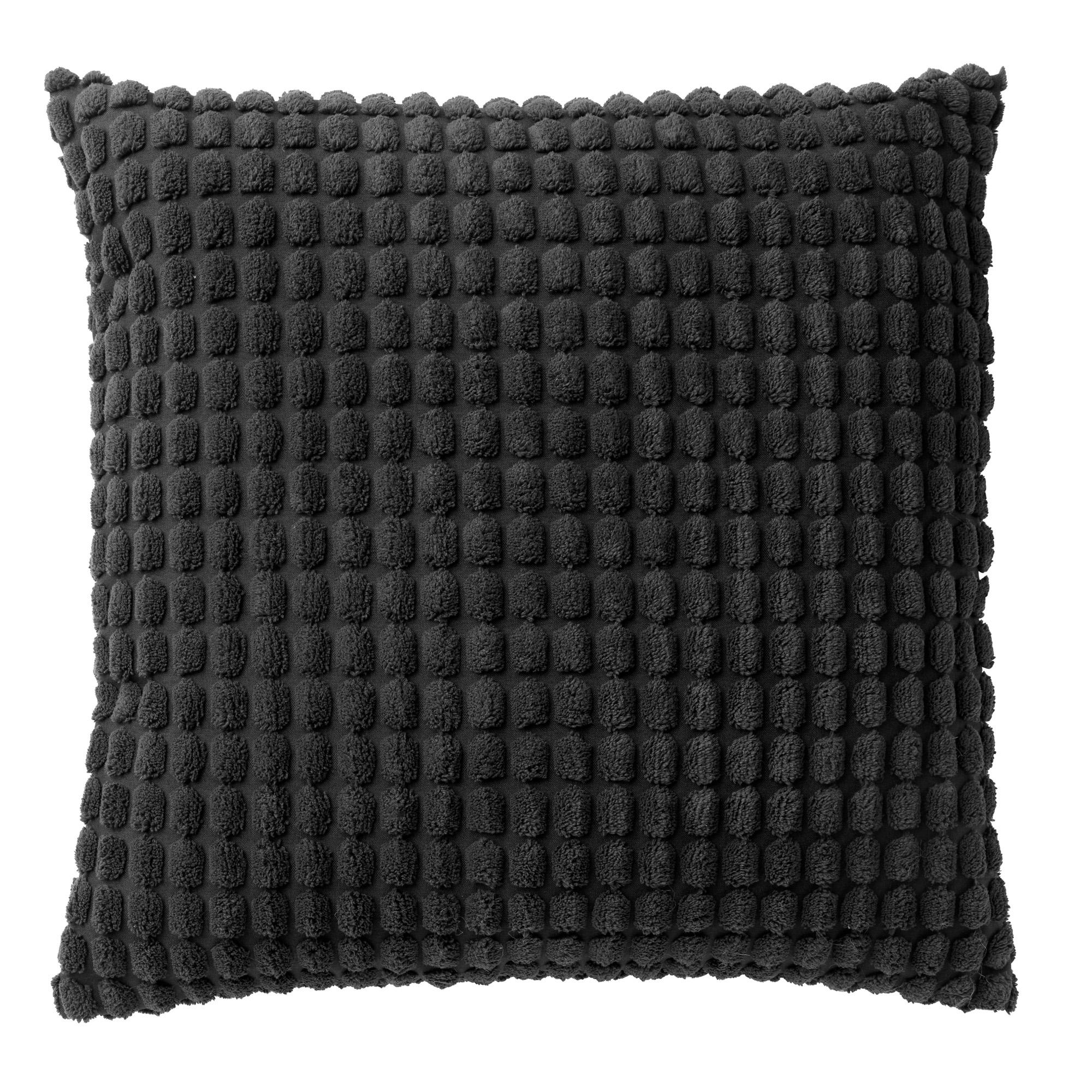 ROME - Sierkussen uni  zwart 45x45 cm