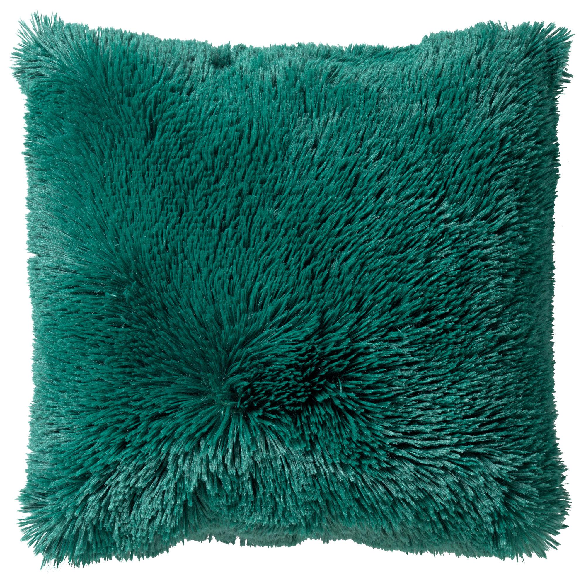 FLUFFY - Sierkussen unikleur Galapagos Green 45x45 cm