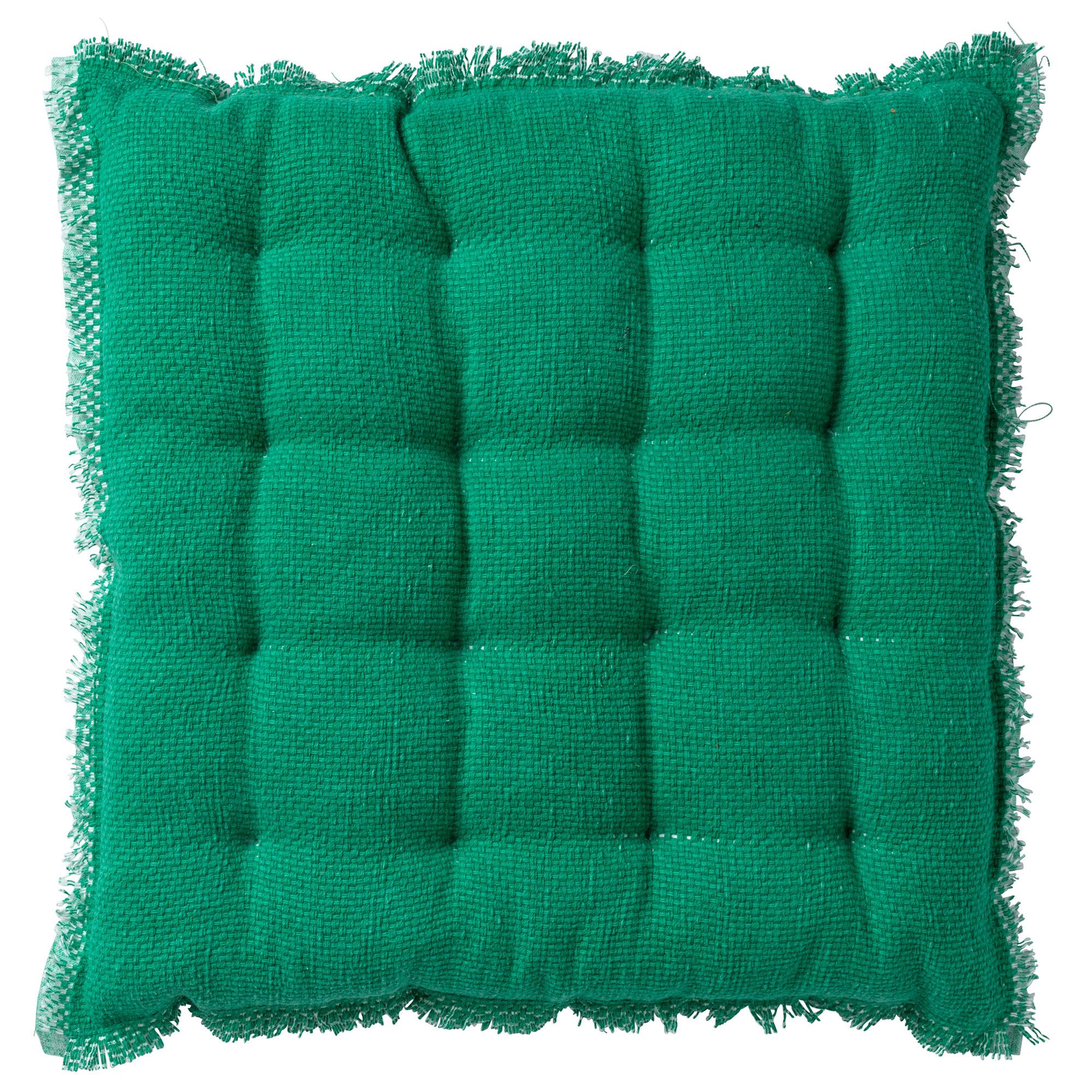 BURTO - Stoelkussen van katoen Emerald 40x40 cm