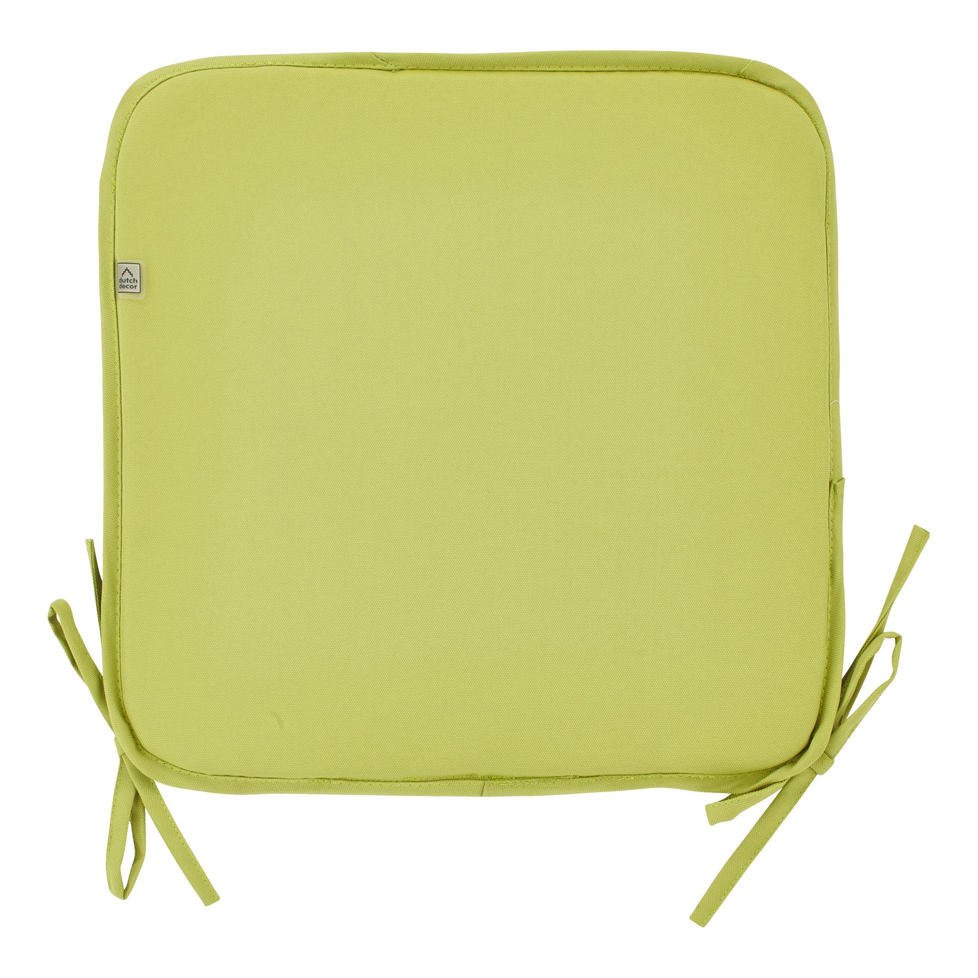 SUNNY - Stoelkussen vierkant met linten Lime 38.5x38.5 cm - model PK2