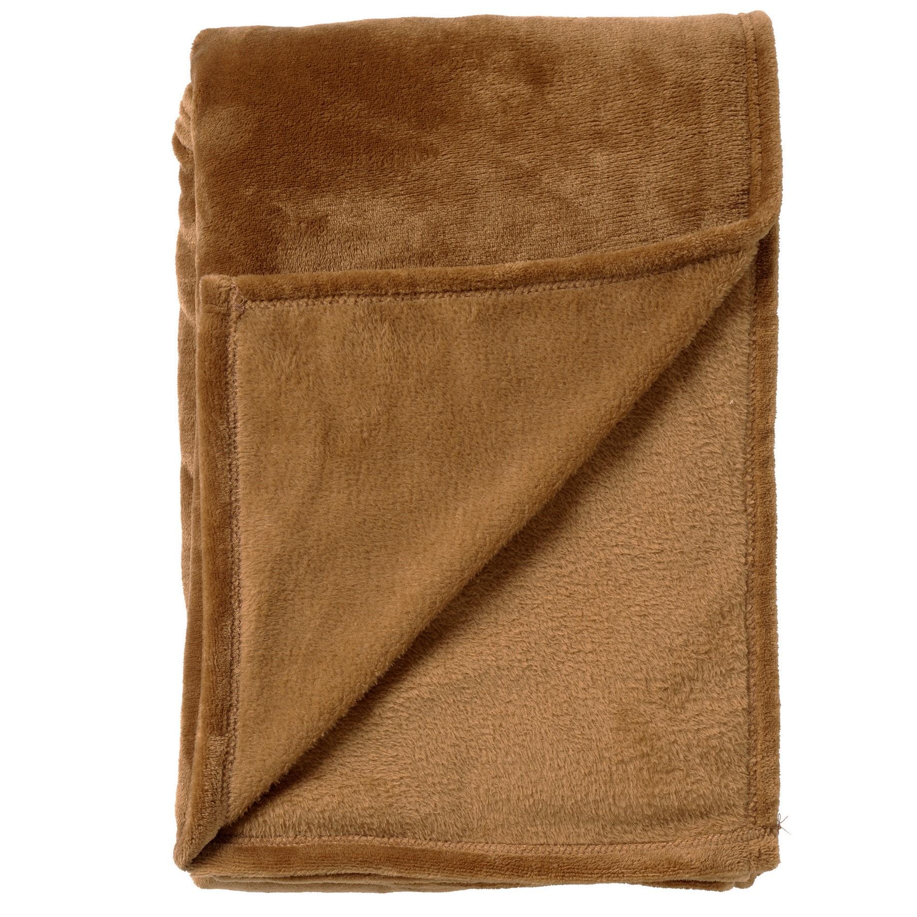 BILLY - Plaid Tobacco Brown 150x200 cm