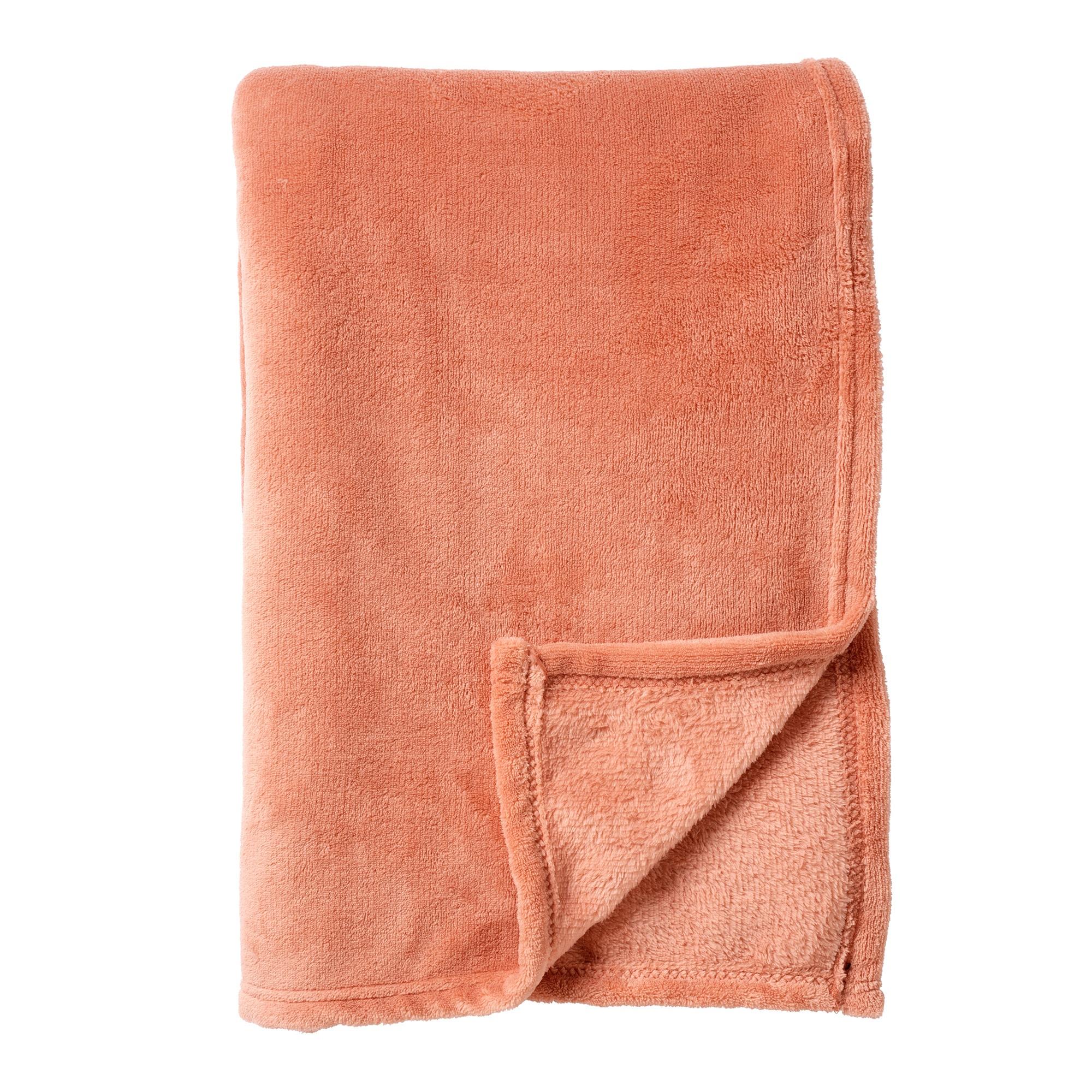 HARVEY - Plaid van fleece Muted Clay 150x200 cm