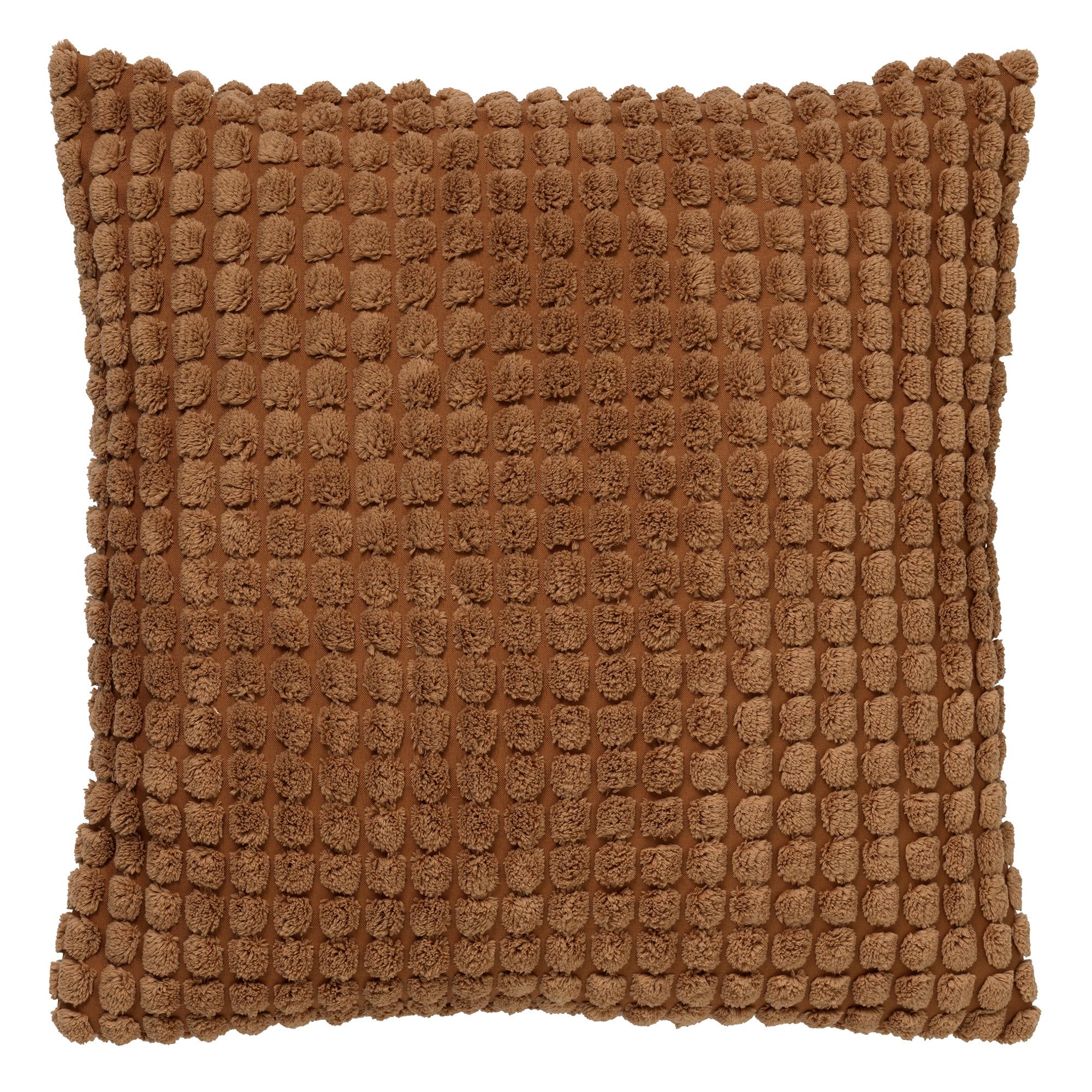 ROME - Sierkussen uni Tobacco Brown 45x45 cm