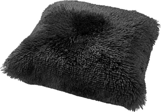FLUFFY - Sierkussen unikleur Raven 60x60 cm