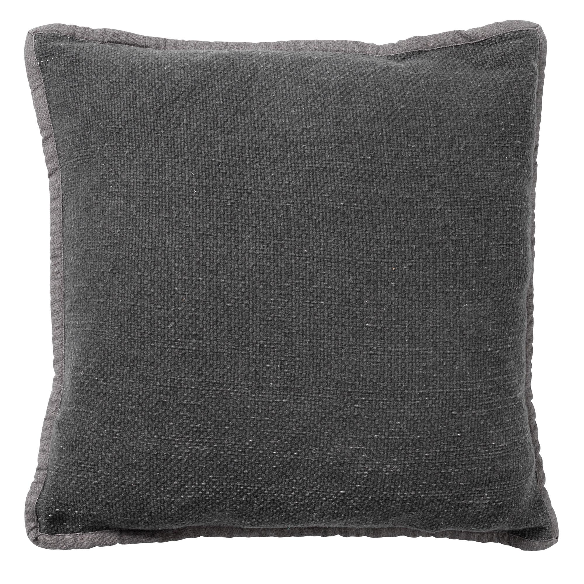 BOWIE - Sierkussen van katoen Charcoal Gray 45x45 cm