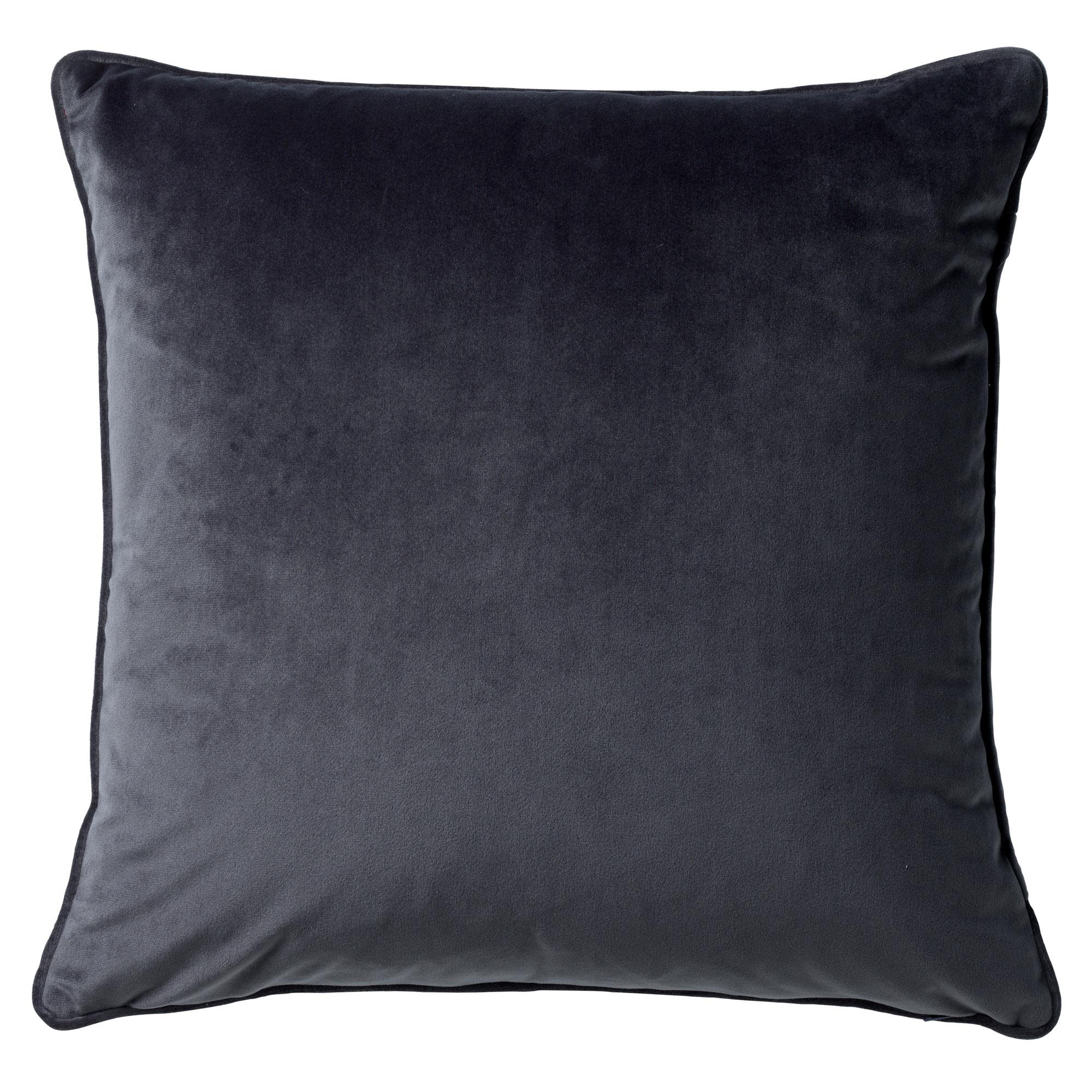 FINN - Sierkussen velvet Charcoal Grey 60x60 cm