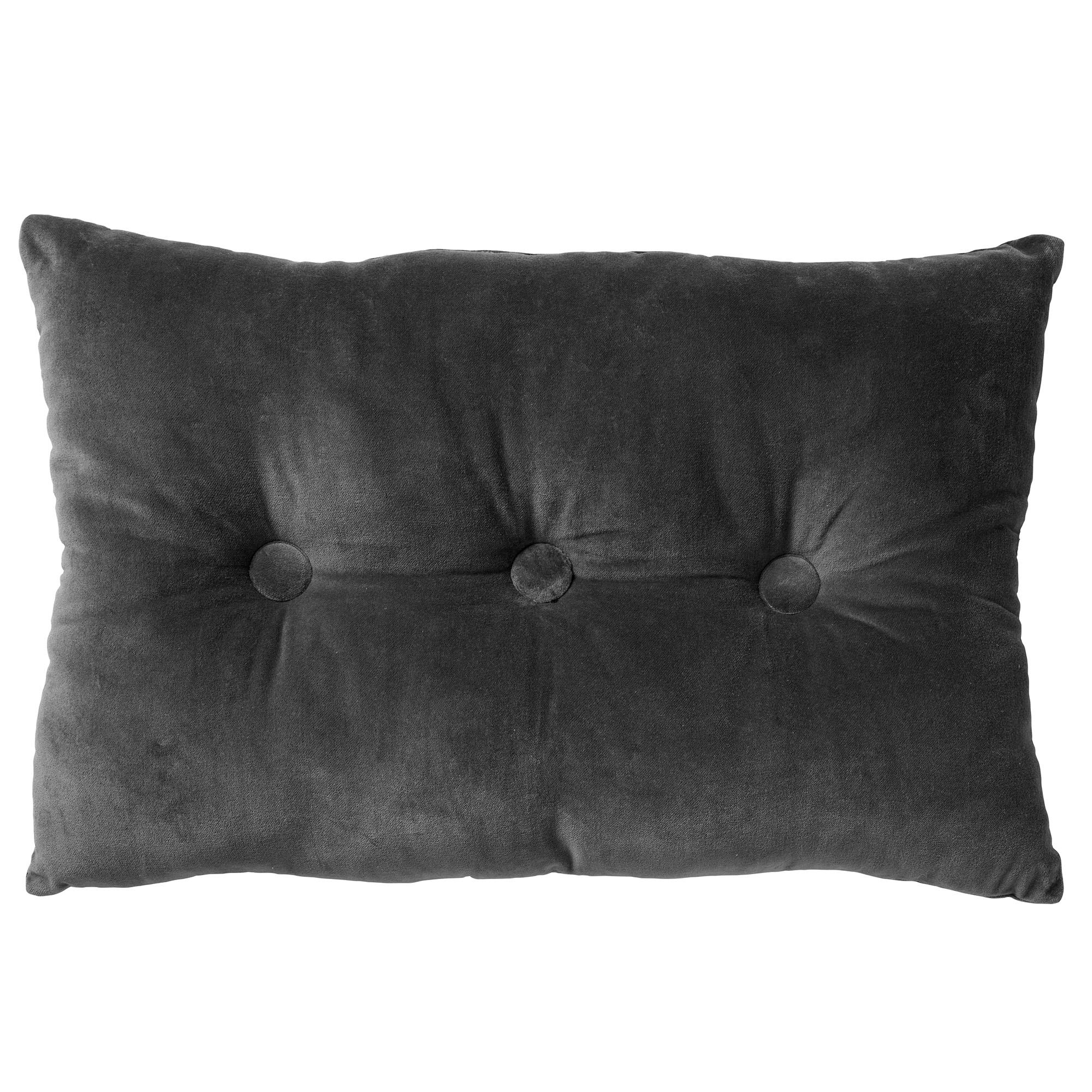 VALERIE - Sierkussen velvet Charcoal Grey 40x60 cm