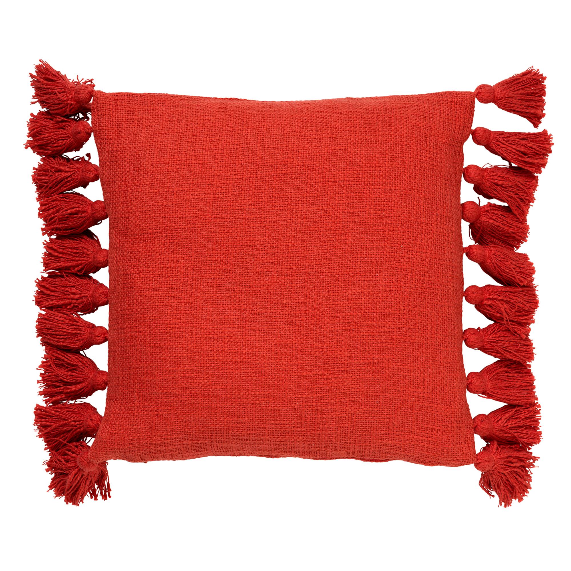 RUBY - Sierkussen van katoen Aurora Red 45x45 cm