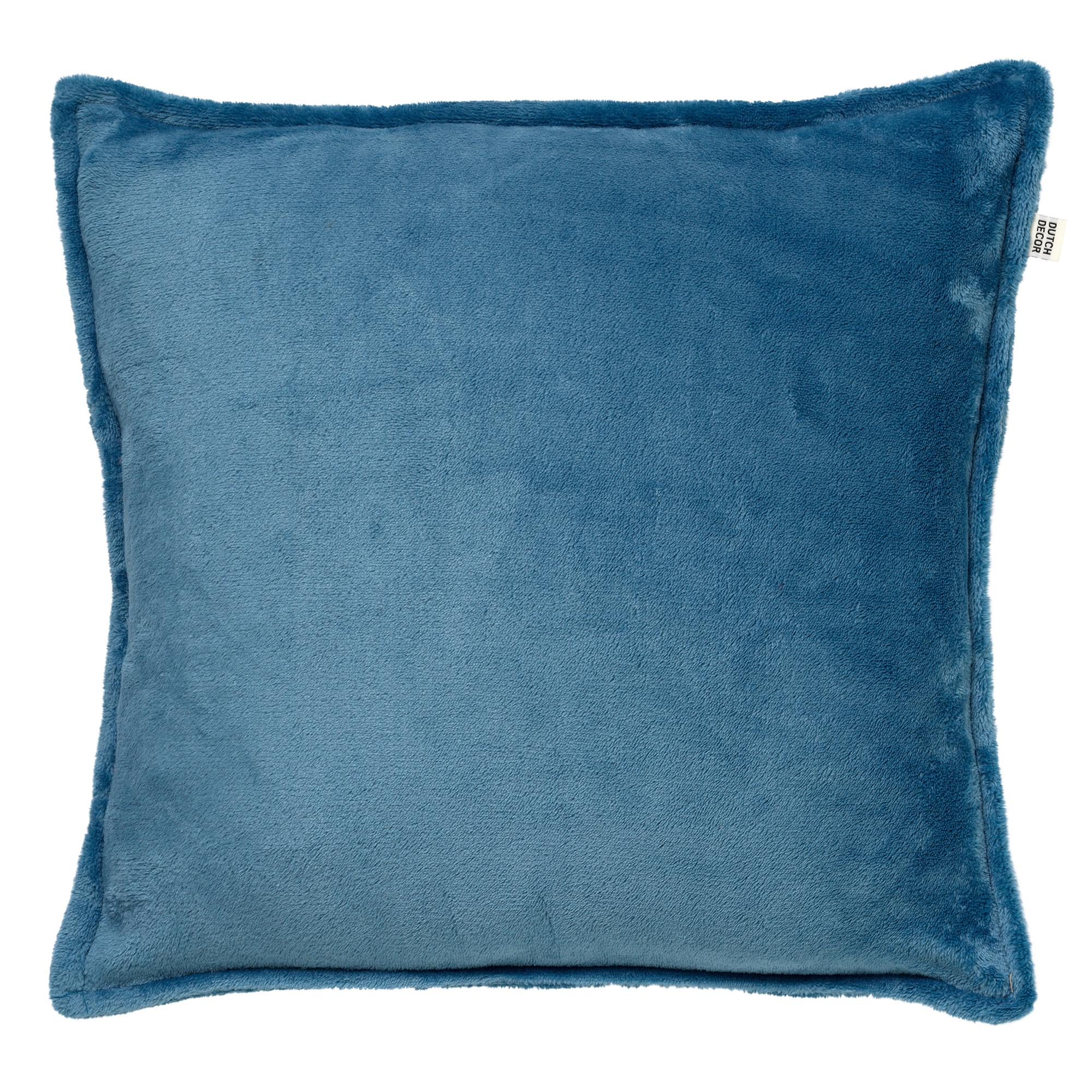 CILLY - Sierkussen van fleece Provincial Blue 45x45 cm