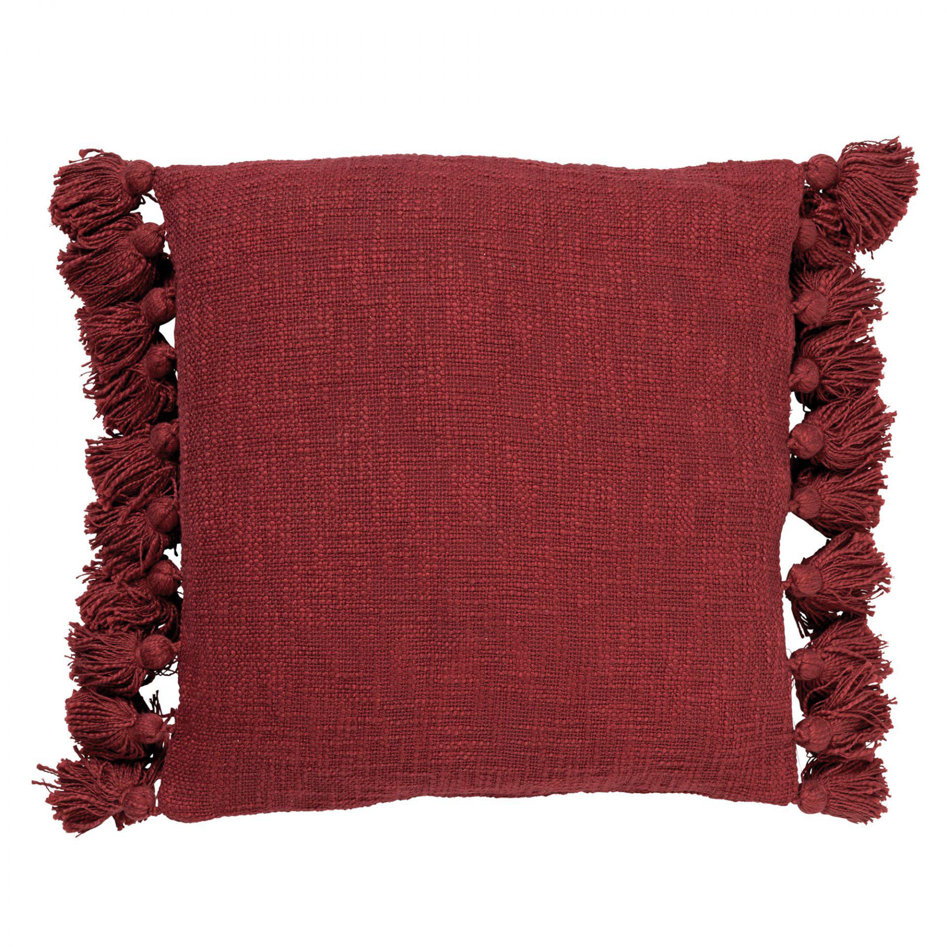 RUBY - Sierkussen van katoen Merlot 45x45 cm