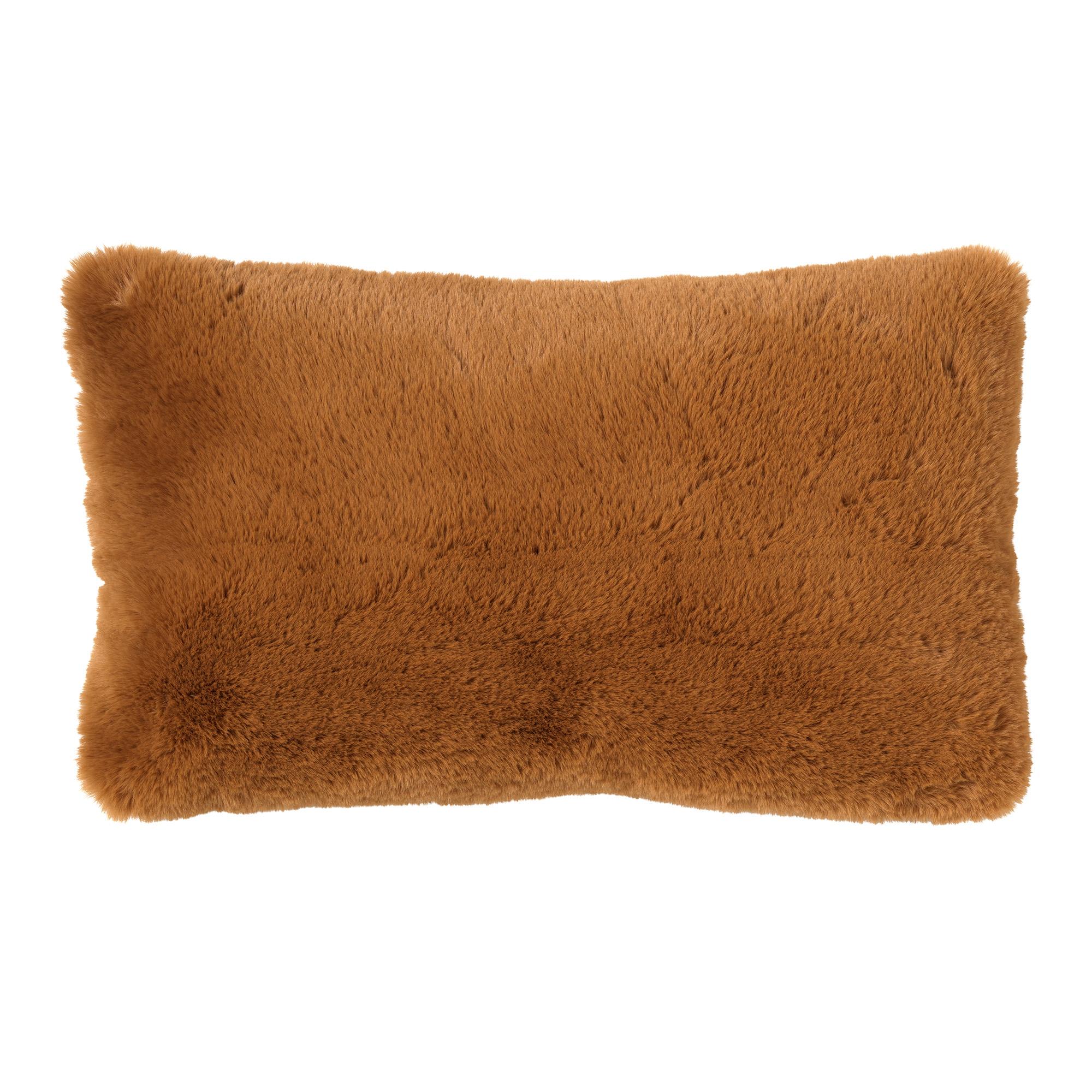 ZAYA - Sierkussen unikleur 30x50 cm Tobacco Brown