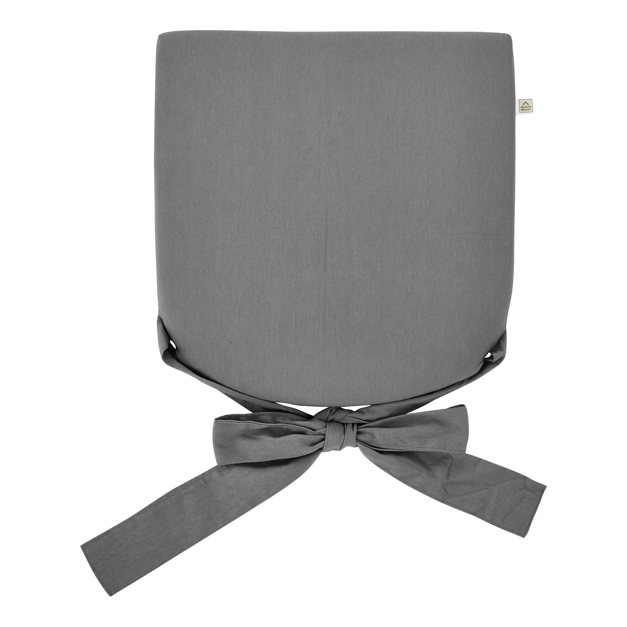 JAVA - Stoelkussen met lint Charcoal gray 40x40 cm