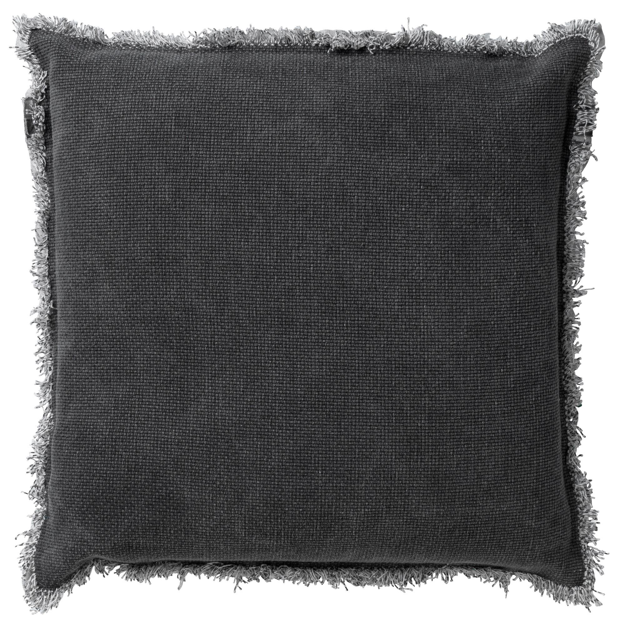 BURTO - Sierkussen van katoen Charcoal Gray 60x60 cm