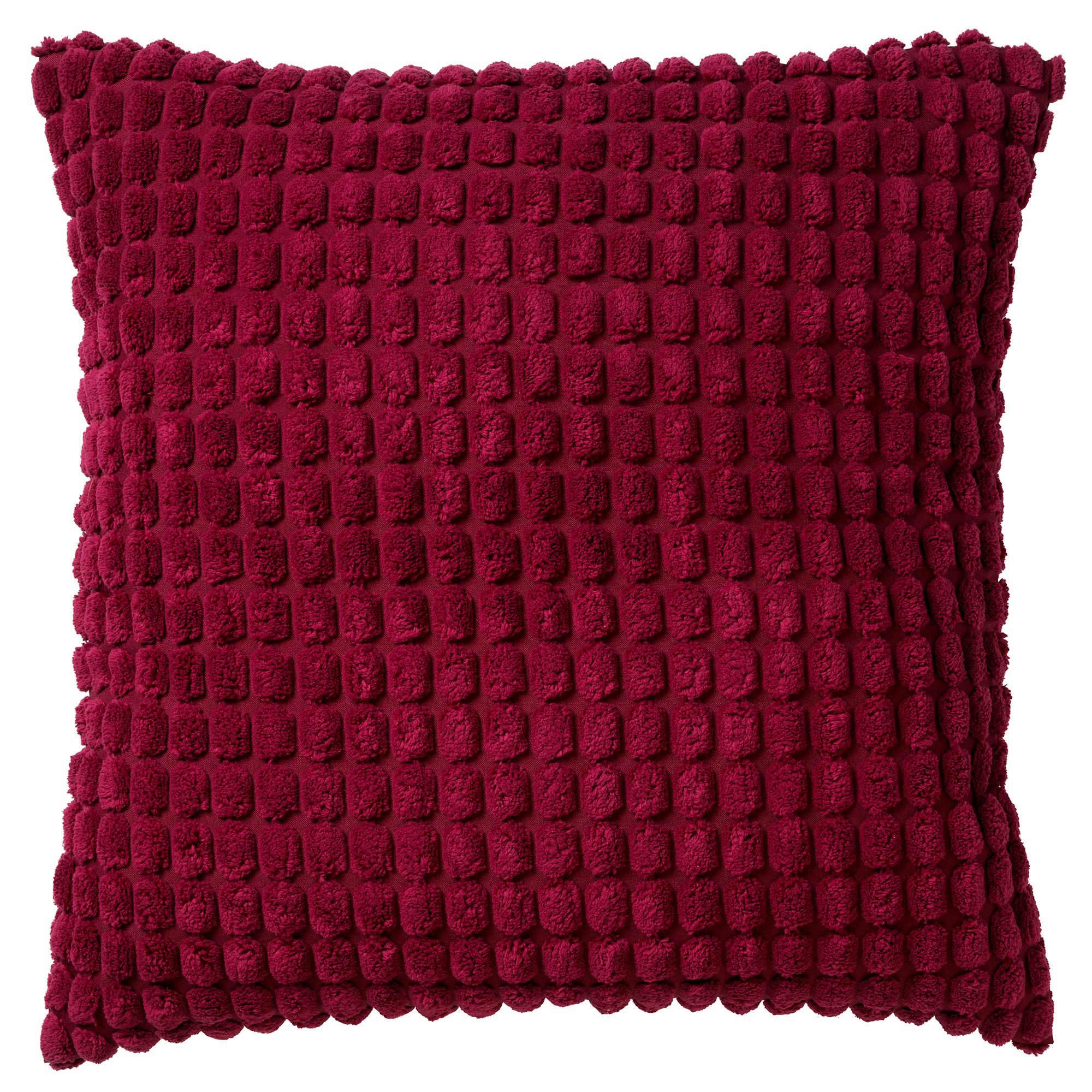 ROME - Sierkussen uni Red Plum 45x45 cm