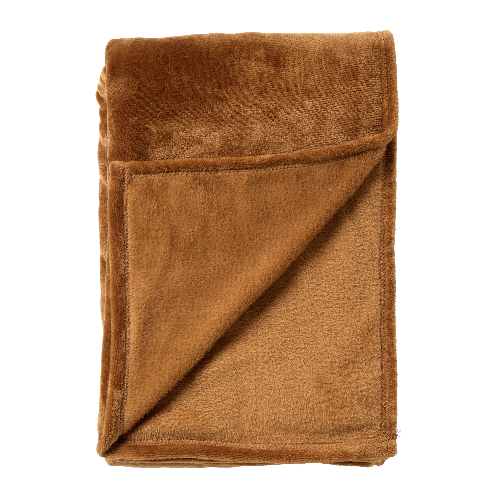 CHARLIE - Plaid Tobacco Brown 200x220 cm