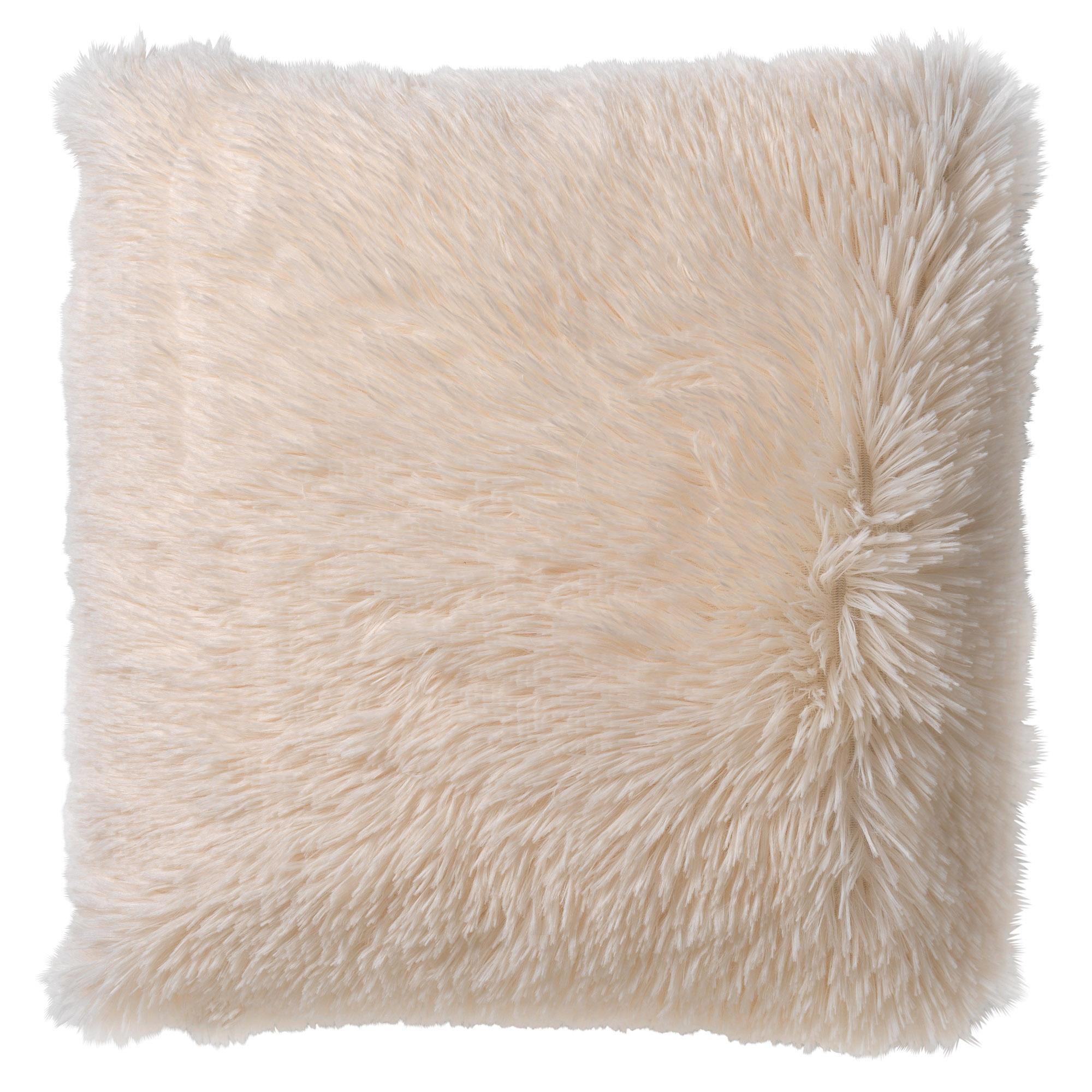 FLUFFY - Sierkussen unikleur Snow White 45x45 cm