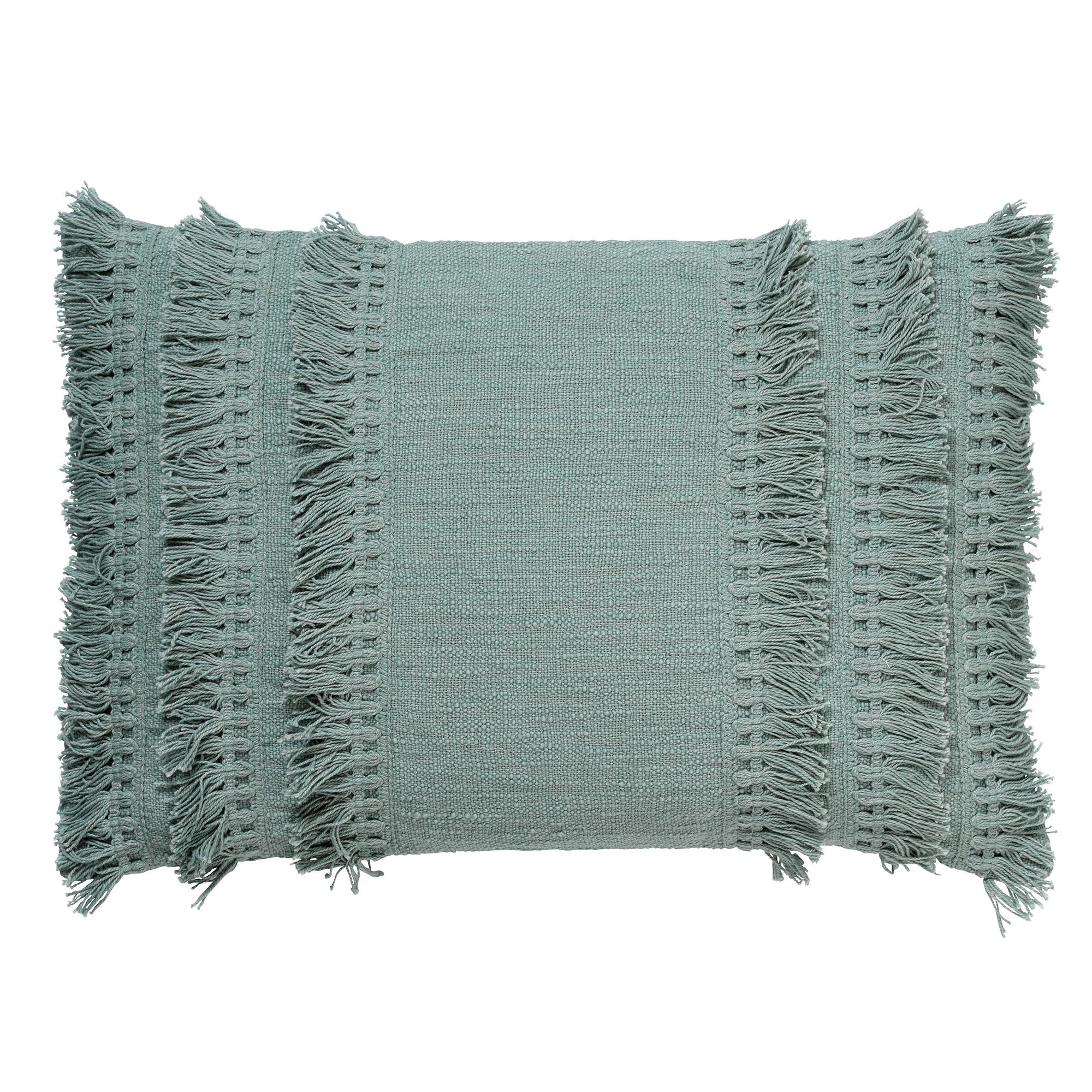 FARA - Sierkussen van katoen Jadeite 40x60 cm