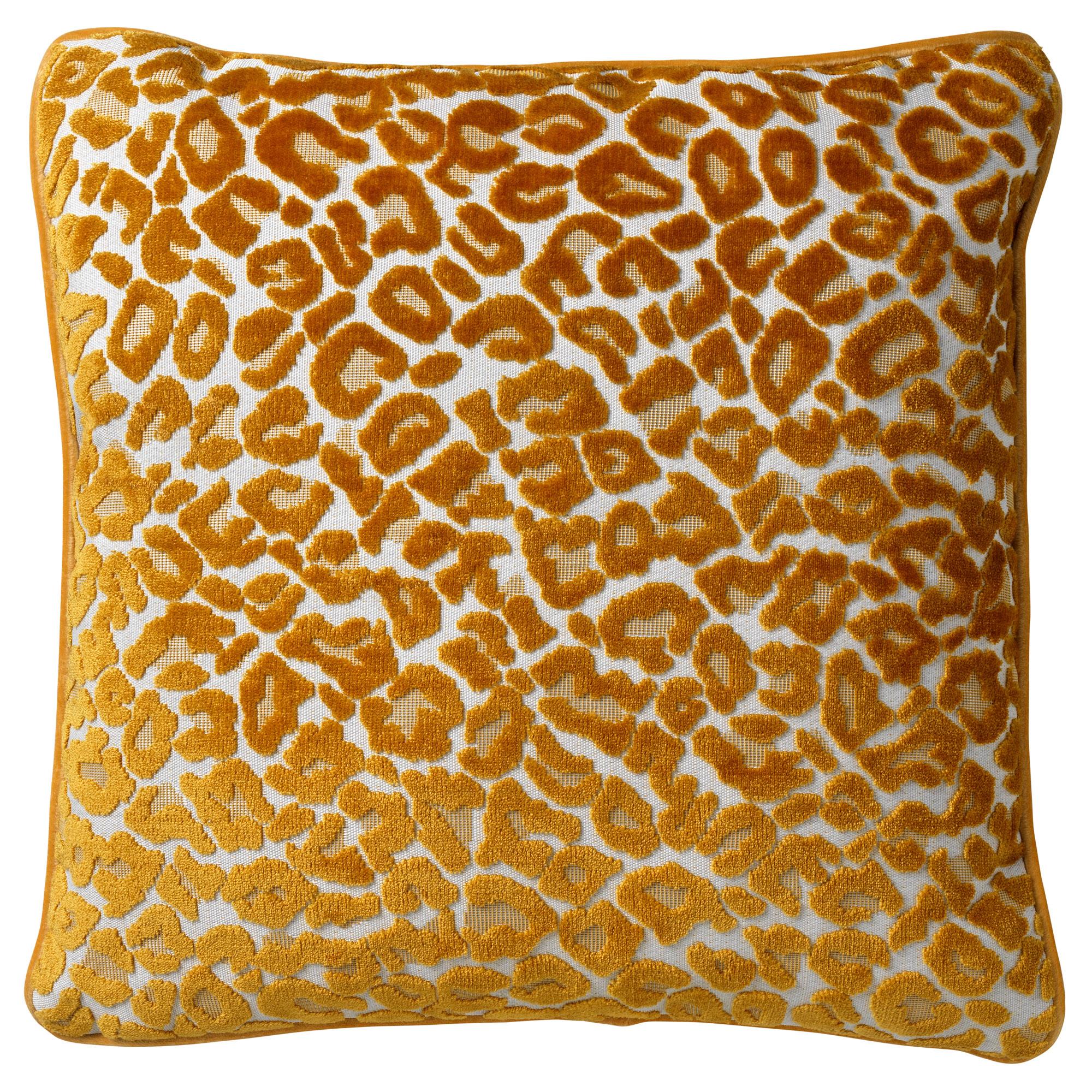 LEONA - Sierkussen velvet Golden Glow 45x45 cm