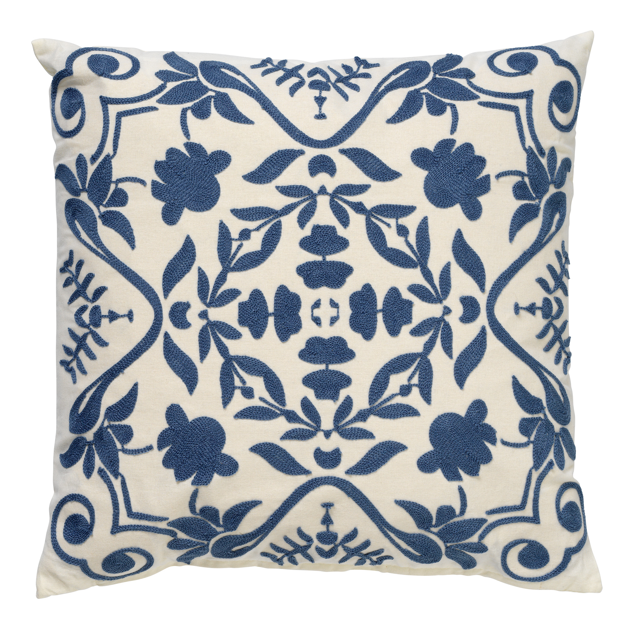 MENA - Sierkussen van katoen Provincial Blue 45x45 cm