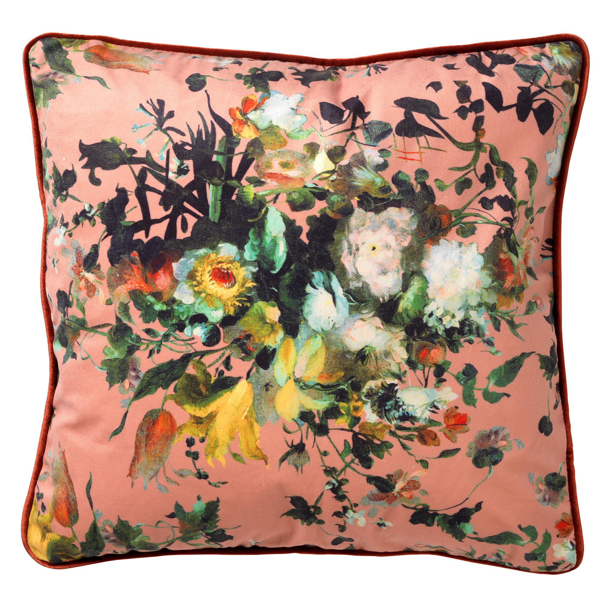 LIAN - Sierkussen met bloemenpatroon Muted Clay 45x45 cm