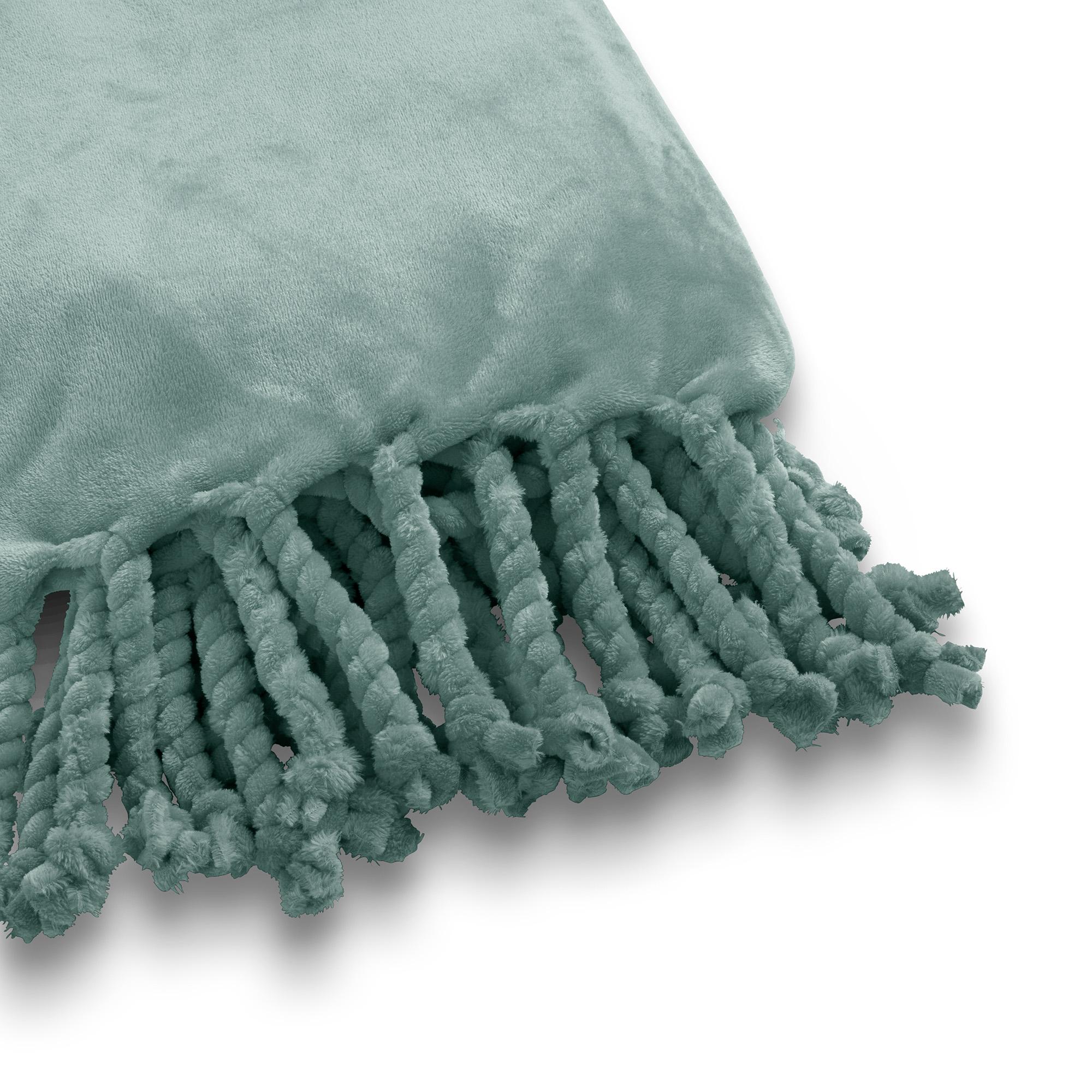 FLORIJN - Plaid van fleece 150x200 cm Jadeite