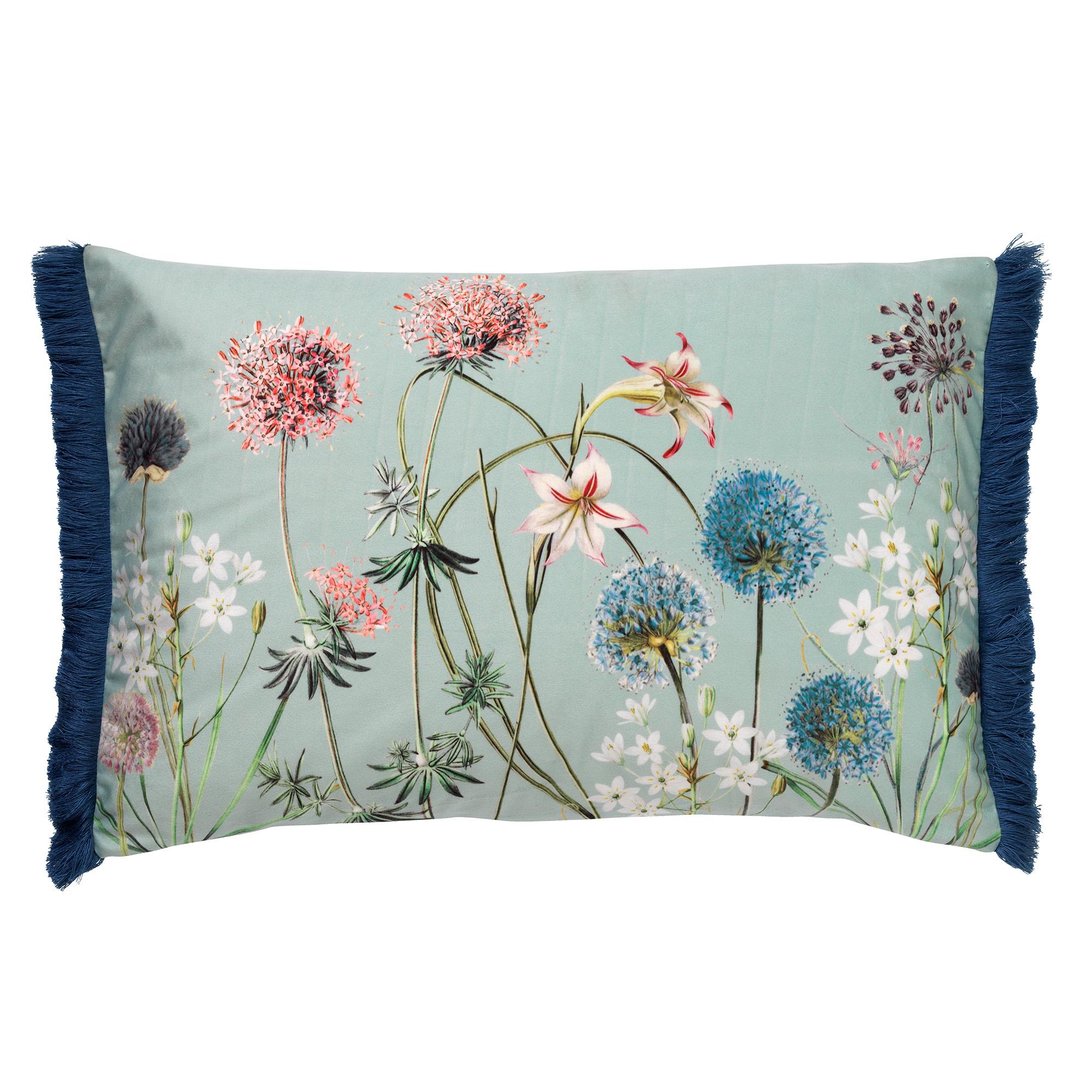 BLOOM - Sierkussen met bloemenpatroon Jadeite 40x60 cm