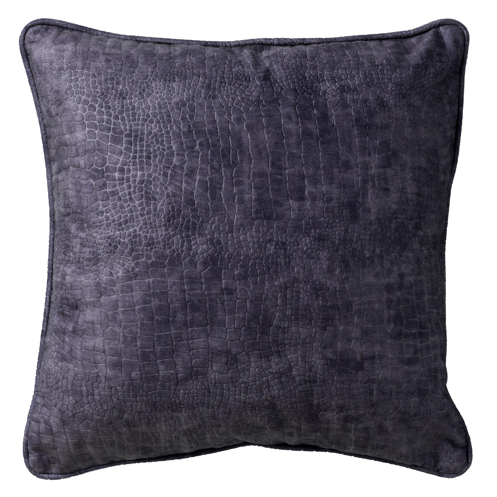 SAMMY - Sierkussen met patroon Charcoal Grey 45x45 cm