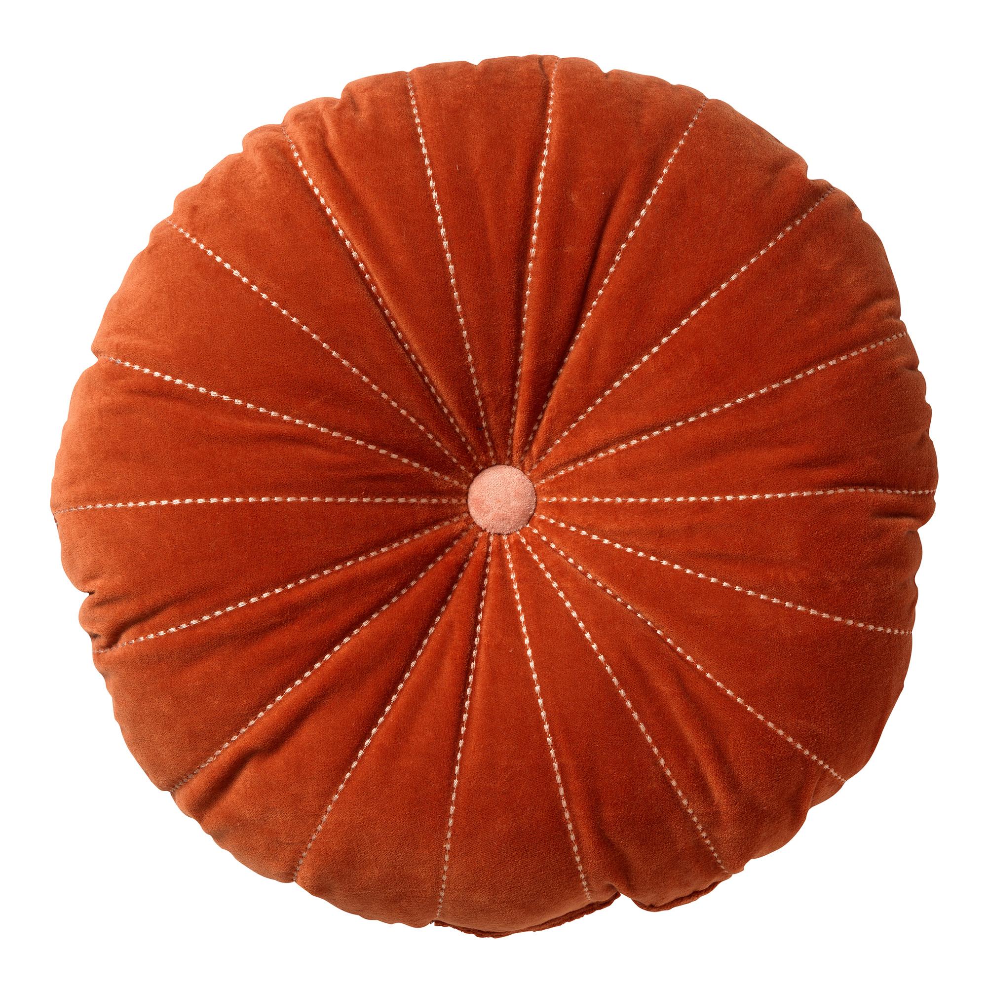 MAAN - Sierkussen rond velvet Potters Clay 50 cm