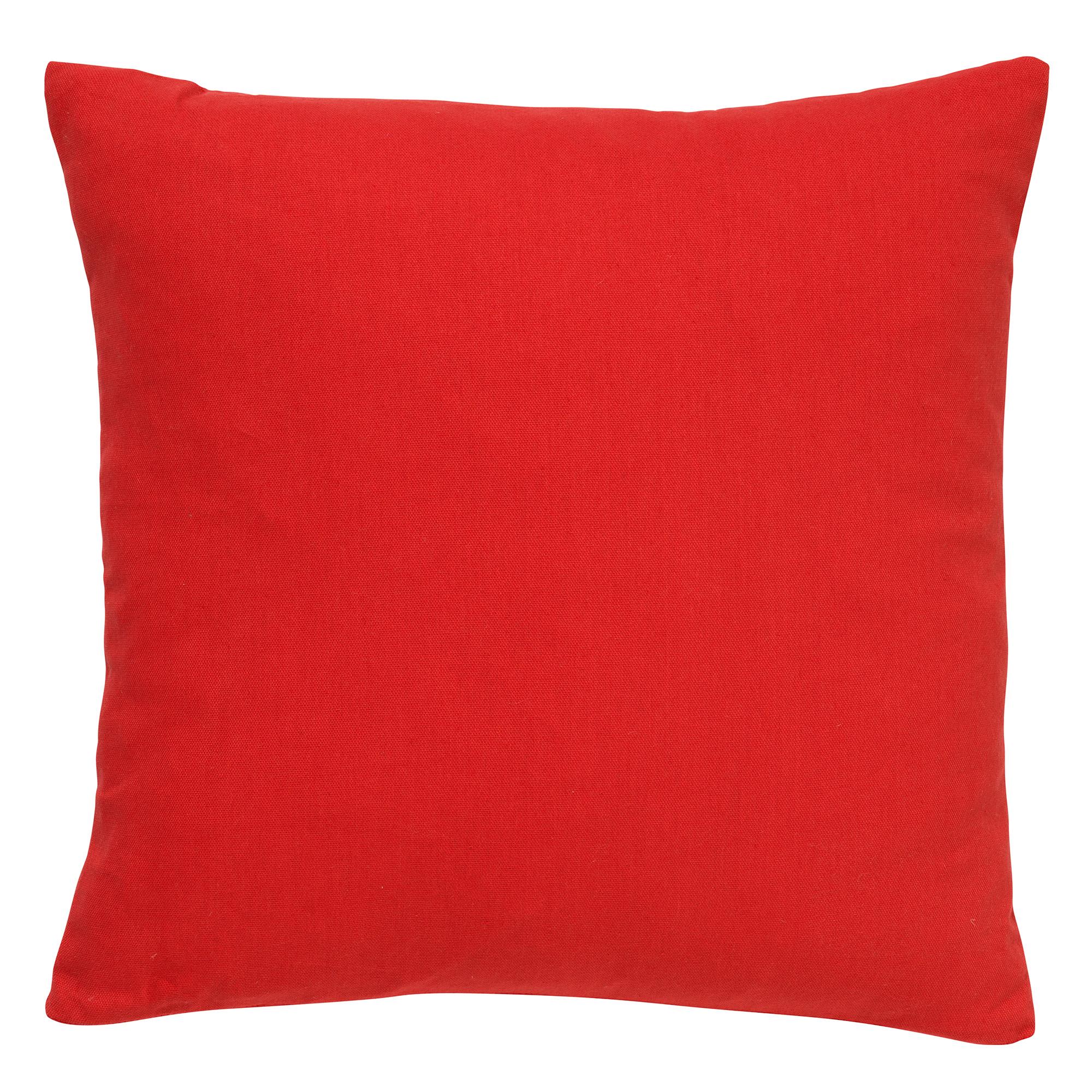 JAMES - Sierkussen van katoen Aurora Red 45x45 cm