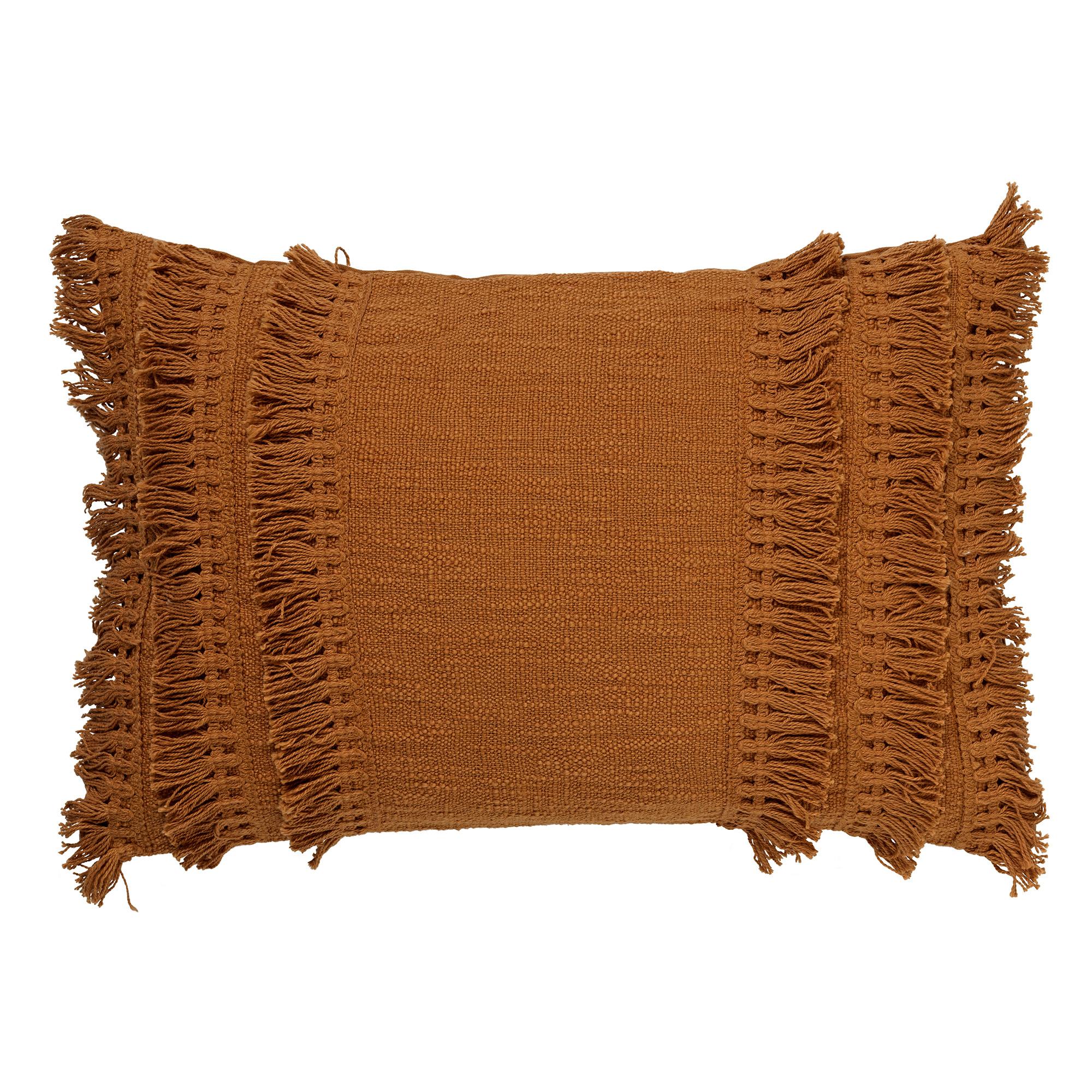 FARA - Sierkussen van katoen Tobacco Brown 40x60 cm