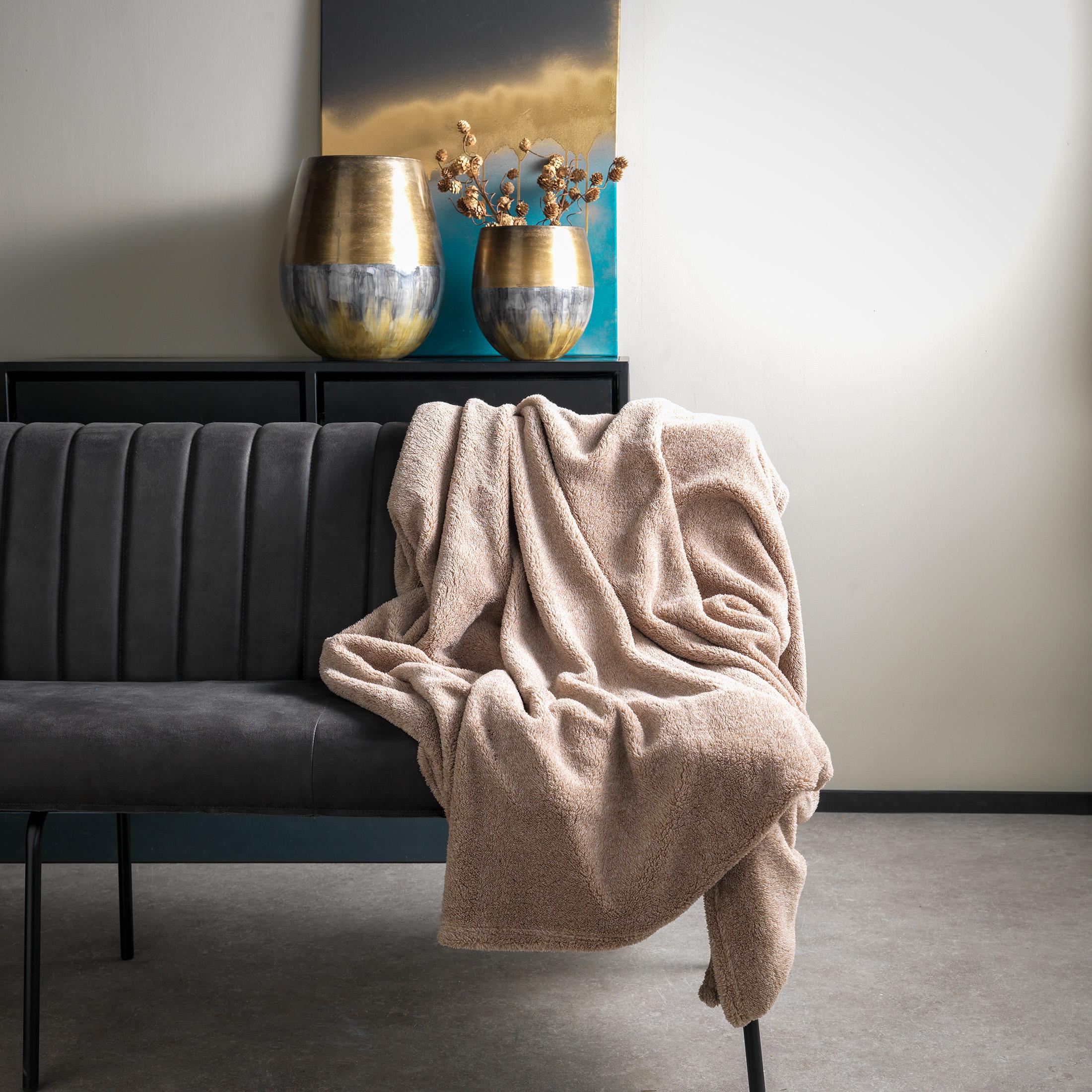 OSCAR - Plaid Tobacco Brown 140x180 cm